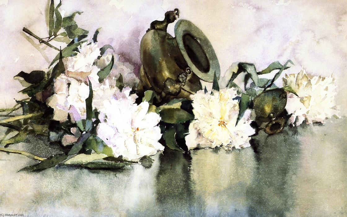 famous painting Peonies of Julian Alden Weir
