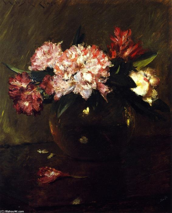 famous painting Peonies and Irises of William Merritt Chase