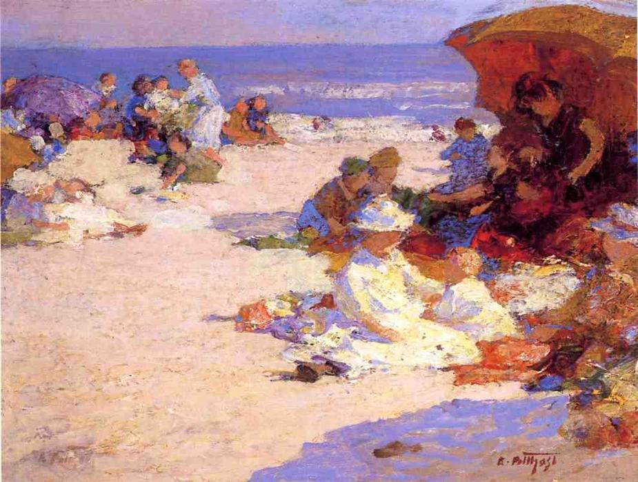 famous painting Picknickers on the Beach of Edward Henry Potthast