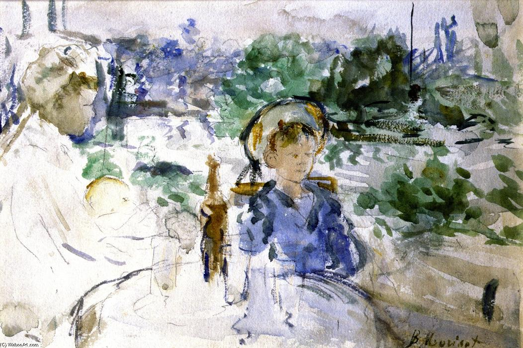 famous painting Picnic in the Courtyard of Berthe Morisot