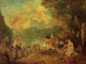 Eugène Louis Boudin - The Pilgrimage to Cythera (after Watteau)