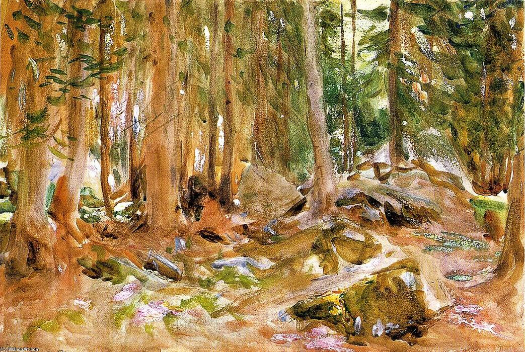 famous painting Pine Forest of John Singer Sargent
