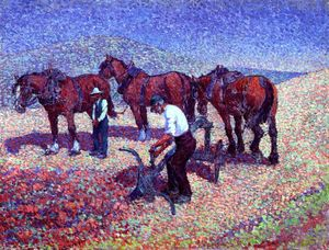 Robert Bevan - Ploughing on the Downs