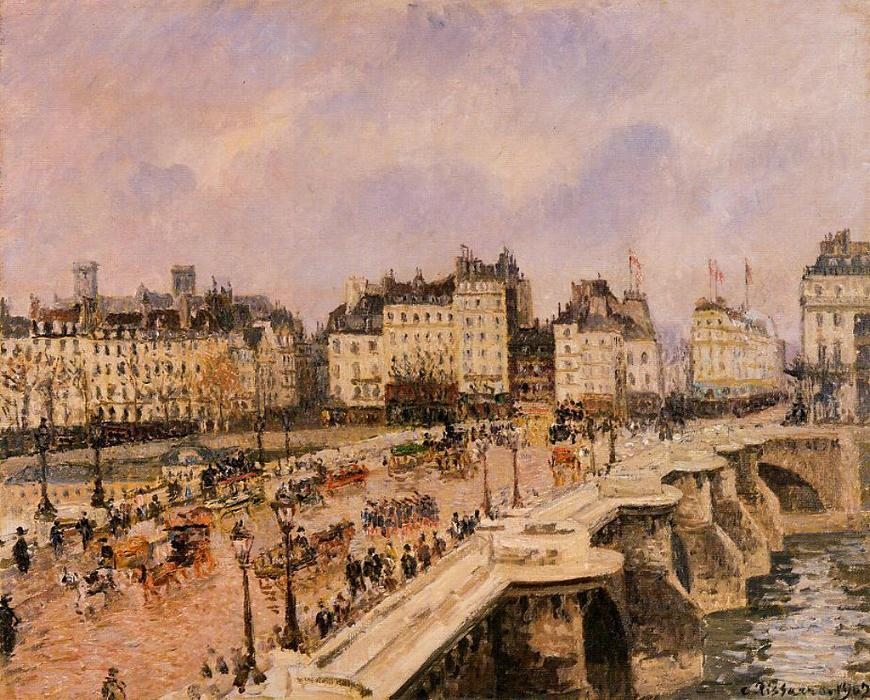 famous painting The Pont-Neuf of Camille Pissarro