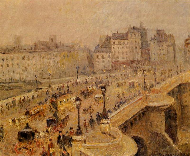 famous painting Pont-Neuf: Fog of Camille Pissarro