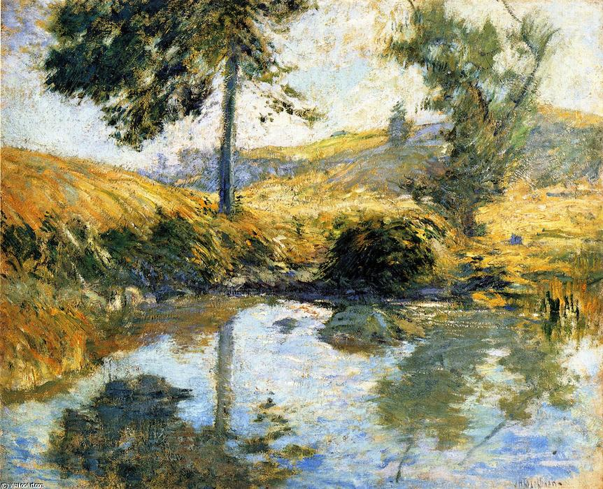 famous painting The Pool (also known as Pool) of John Henry Twachtman