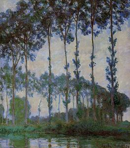 Claude Monet - Poplars on the Banks of the River Epte, Overcast Weather