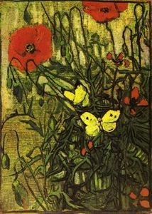 Vincent Van Gogh - Poppies and Buttreflies