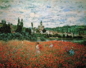 Claude Monet - Poppy Field near Vetheuil