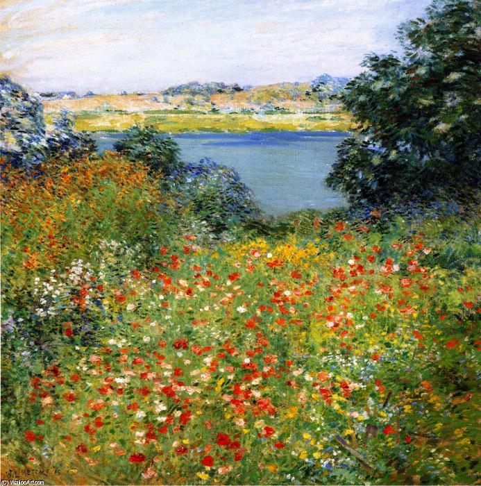 famous painting The Poppy Garden of Willard Leroy Metcalf
