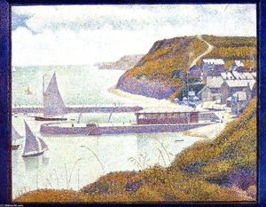 Georges Pierre Seurat - Port-en-Bessin, The Outer Harbor, High Tide
