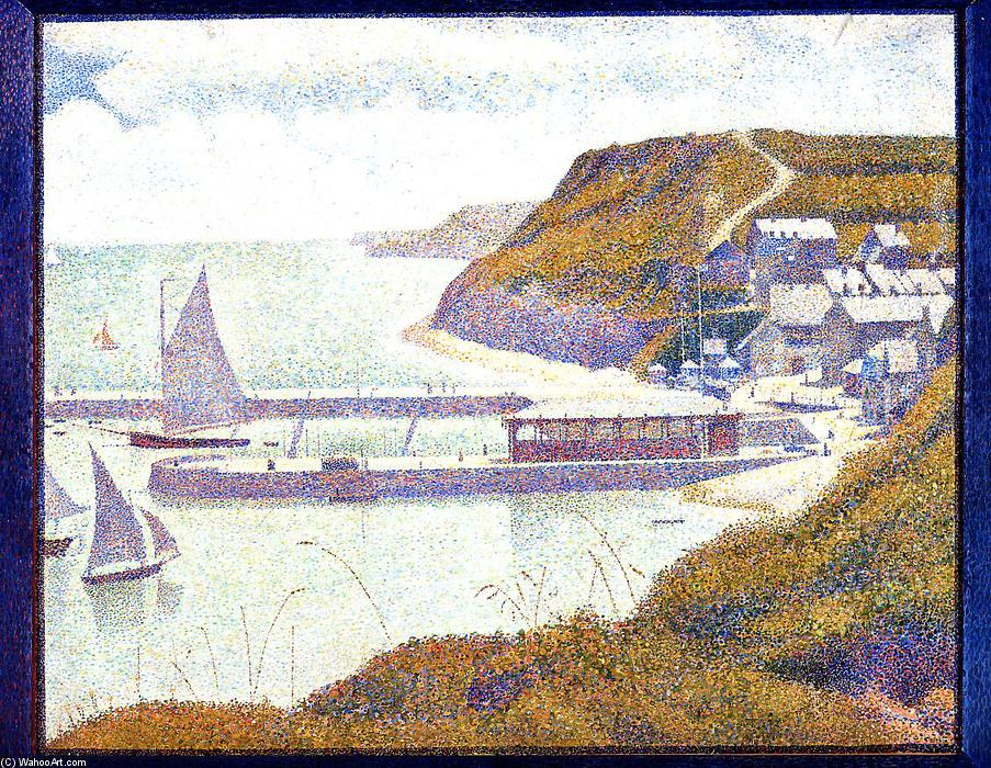 famous painting Port-en-Bessin, The Outer Harbor, High Tide of Georges Pierre Seurat