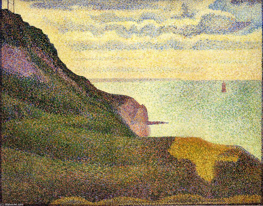 famous painting Port-en-Bessin, the Semaphore and Cliffs of Georges Pierre Seurat