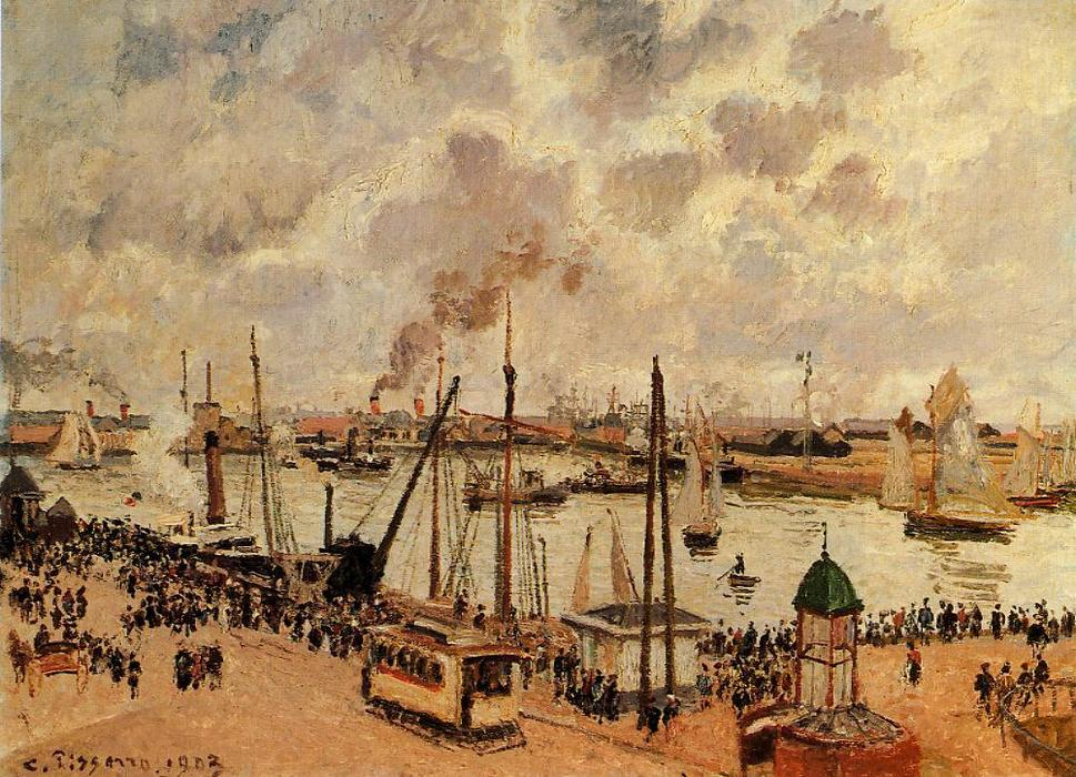 famous painting The Port of Le Havre of Camille Pissarro