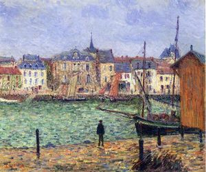 Gustave Loiseau - The Port of Pornic, High Tide