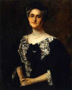 William Merritt Chase - Portrait - Mrs. J (also known as Mrs. Martin Joost)