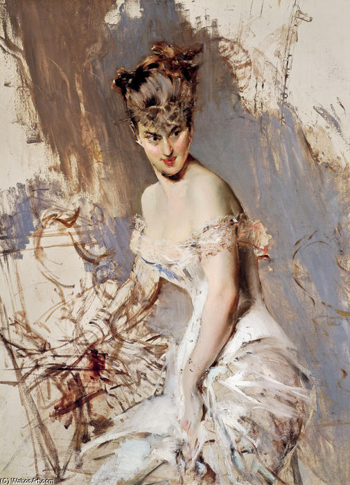 famous painting Portrait of Alice Regnault of Giovanni Boldini