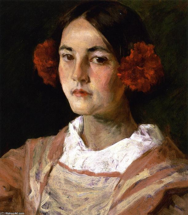 famous painting Portrait of the Artist's Daughter, Alice (also known as Gitana) of William Merritt Chase
