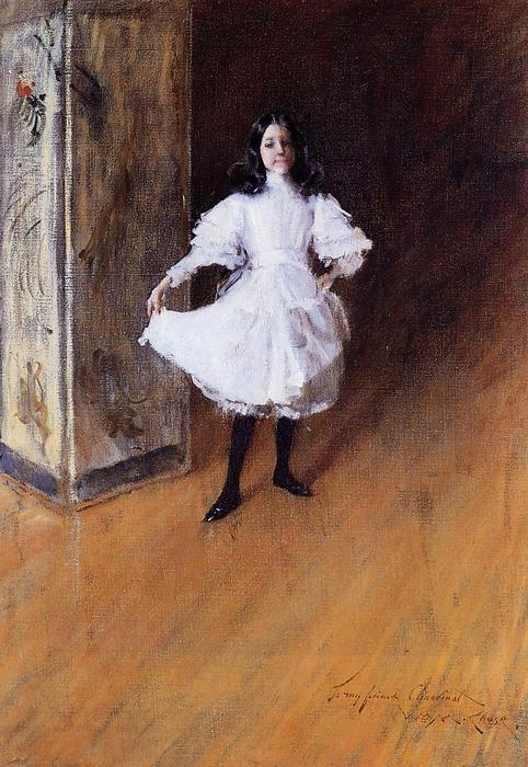 famous painting Portrait of the Artist's Daughter (Dorothy) of William Merritt Chase