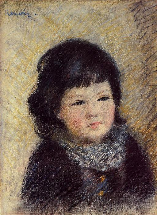 famous painting Portrait of a Child of Pierre-Auguste Renoir