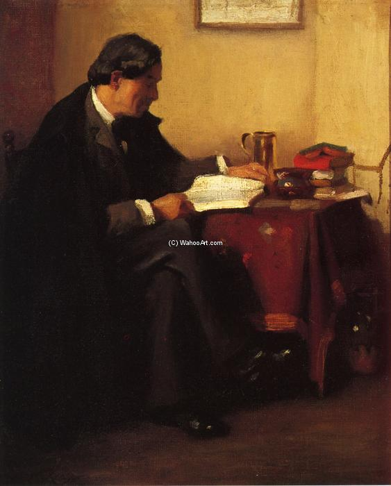 famous painting Portrait of Elbert Hubbard (also known as The Roycrafter) of William Merritt Chase
