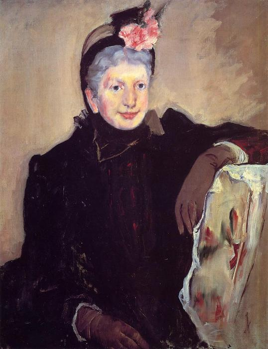 famous painting Portrait of an Elderly Lady of Mary Stevenson Cassatt