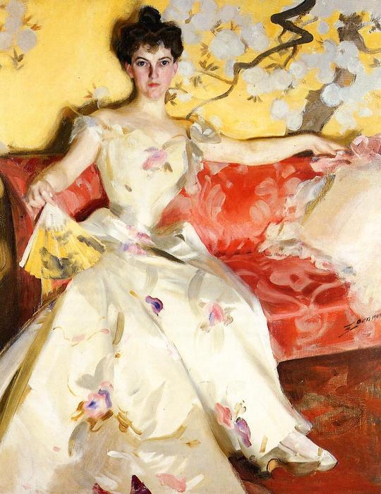 famous painting Portrait of Elizabeth Sherman Cameron of Anders Leonard Zorn