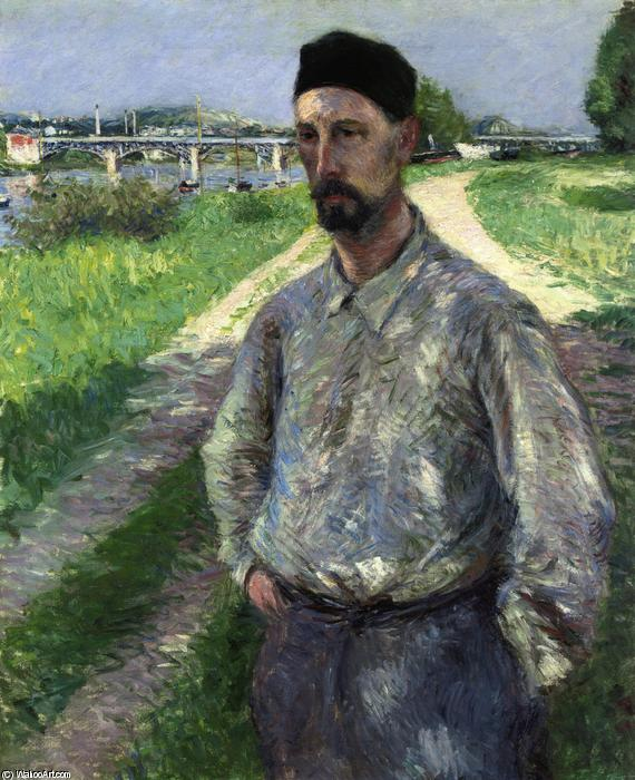 famous painting Portrait of Eugene Lamy of Gustave Caillebotte