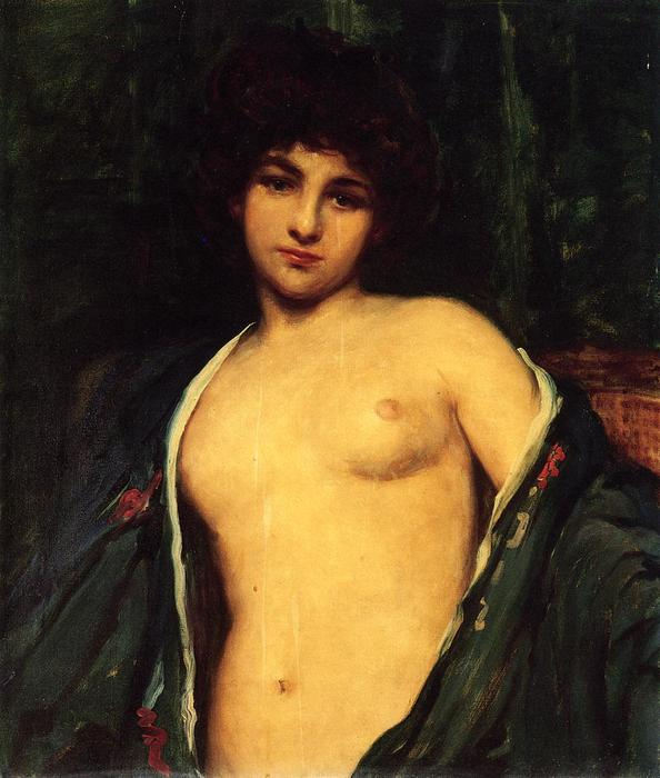 famous painting Portrait of Evelyn Nesbitt of James Carroll Beckwith