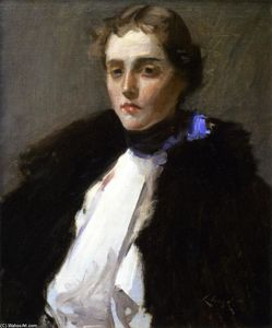 William Merritt Chase - Portrait of Fra Dana