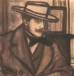 Jozsef Rippl Ronai - Portrait of James Pitcairn Knowles