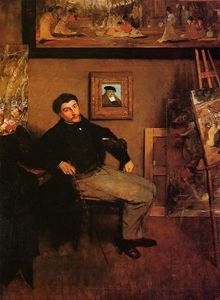 Edgar Degas - Portrait of James Tissot