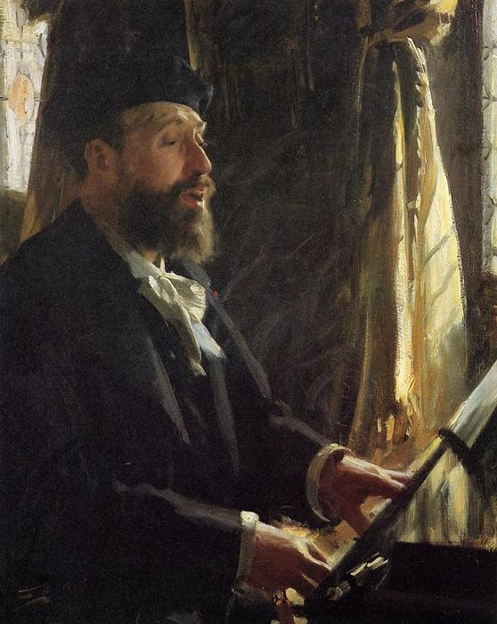 famous painting A Portrait of Jean-Baptiste Faure of Anders Leonard Zorn