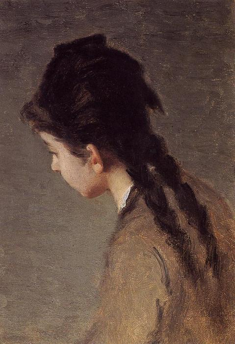 famous painting Portrait of Jeanne Gonzales in Profile of Eva Gonzales