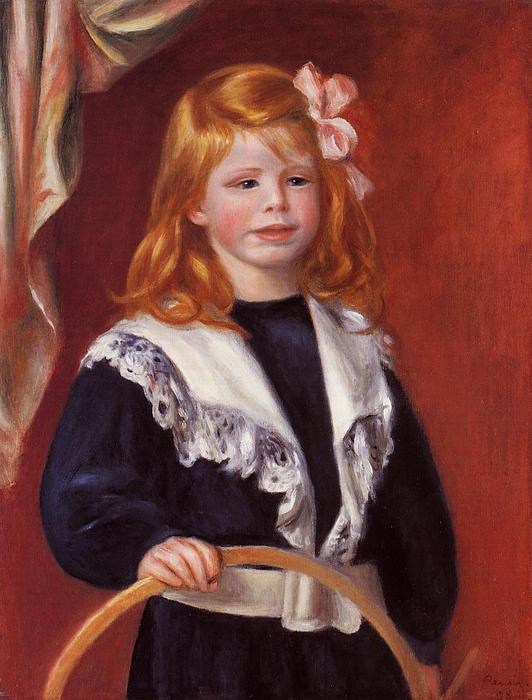 famous painting Portrait of Jean Renoir (also known as Child with a Hoop) of Pierre-Auguste Renoir