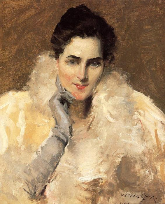 famous painting Portrait of a Lady of William Merritt Chase