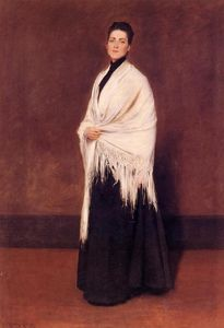 William Merritt Chase - Portrait of Lady C. (also known as Lady with a White Shawl)