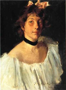 William Merritt Chase - Portrait of a Lady in a White Dress (also known as Miss Edith Newbold)