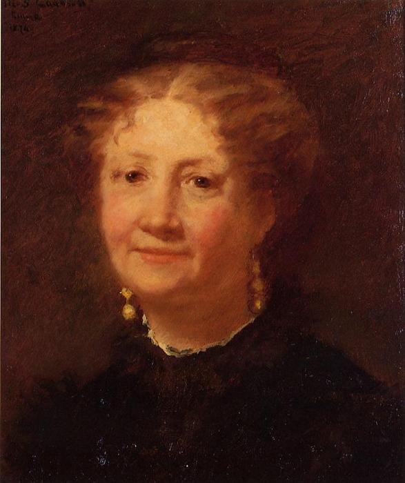 famous painting Portrait of Madame Cordier of Mary Stevenson Cassatt