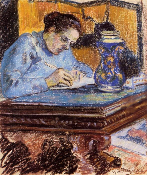 famous painting Portrait of Madame Guillaumin of Jean Baptiste Armand Guillaumin