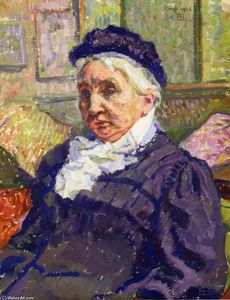 Theo Van Rysselberghe - Portrait of Madame Monnon
