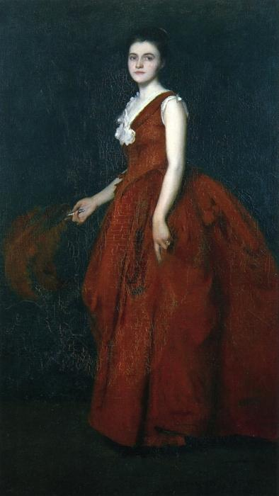 famous painting Portrait of Madame Tarbell of Edmund Charles Tarbell