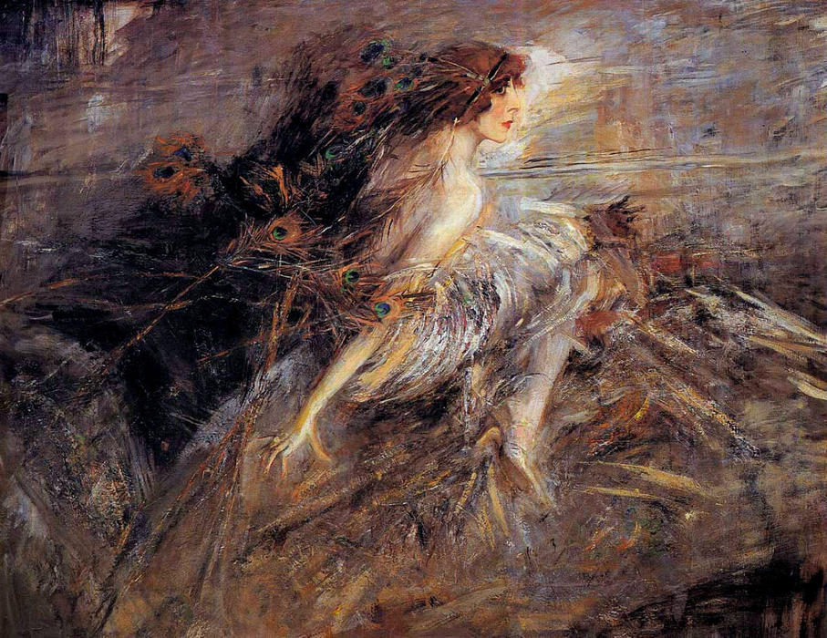 famous painting Portrait of the Marquise of Giovanni Boldini