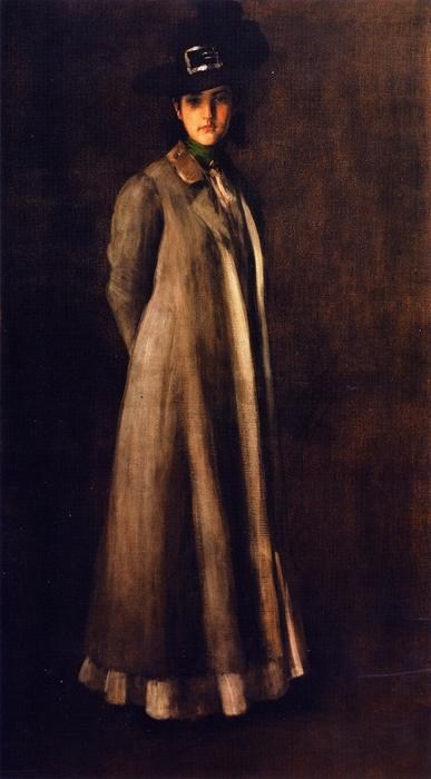 famous painting Portrait of Miss D. (also known as My Daughter Dieudonnee) of William Merritt Chase