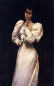 William Merritt Chase - Portrait of Miss L. (also known as Portrait of Miss Lawrence)