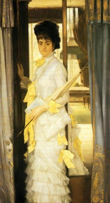 famous painting Portrait of Miss Lloye of James Jacques Joseph Tissot