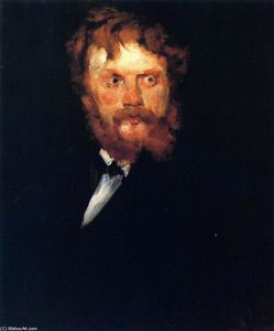 William Merritt Chase - Portrait of Mr. Drindel
