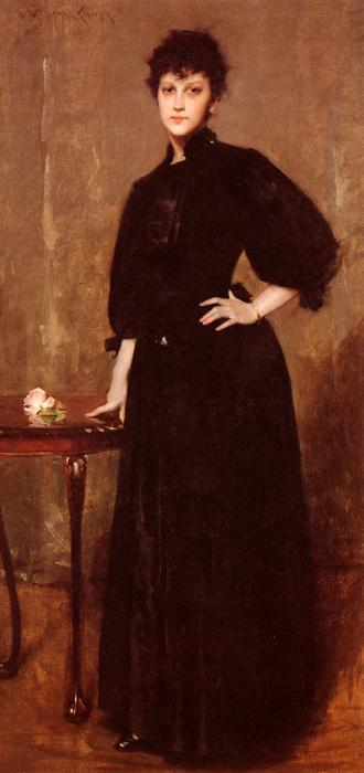 famous painting Portrait of Mrs. C. of William Merritt Chase