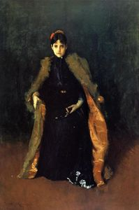 William Merritt Chase - Portrait of Mrs.C. (Alice Gerson Chase)