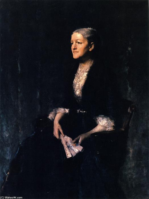 famous painting Portrait of Mrs. G (Cornelia Rogers Huntington Greer) of William Merritt Chase